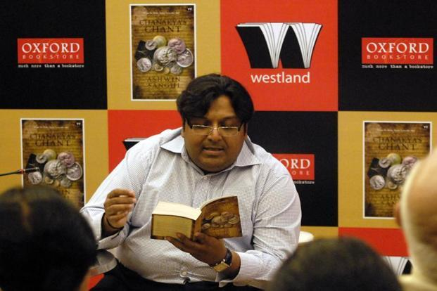 Author Ashwin Sanghi. Photo: Kalpak Pathak/Hindustan Times